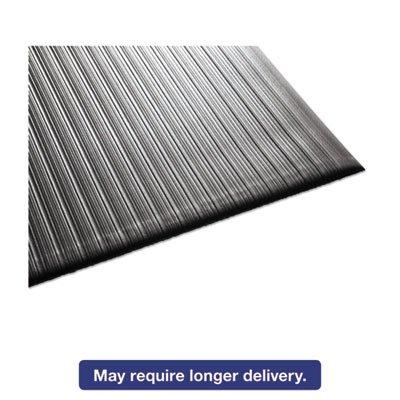 Air Step Antifatigue Mat, Polypropylene, 36 x 144, Black, Sold as 1 Each