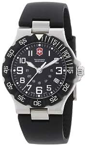 Victorinox Swiss Army - Reloj analógico de cuarzo para hombre con correa de plástico, color negro