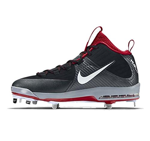 Nike Mens Air Max Mvp Elit Mitten Metall Baseball Dubbarna Svart / Orange