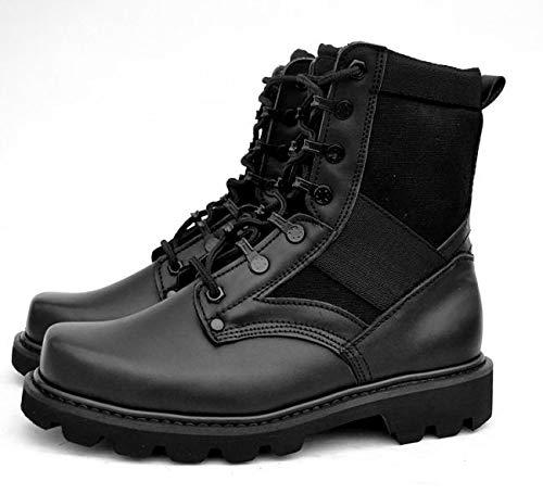 HCBYJ scarpa Stivali Esterni Stivali Tattici PU PU PU Stivali da Combattimento Invernali in Acciaio Testa   Uscita  5a7734