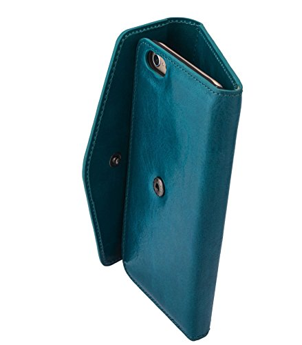 Melkco Premium-Kuh leather Folio Series Book Case für Apple iPhone 6S (4,7 Zoll) oliver blau