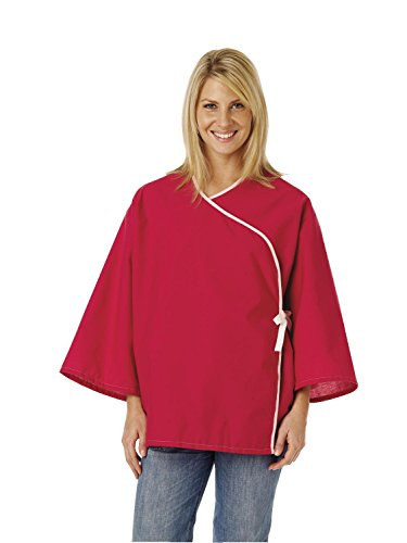 (Medline MDTSG5RFORUB Crisscross Front Mammography Jacket, Ruby (Pack of 12))