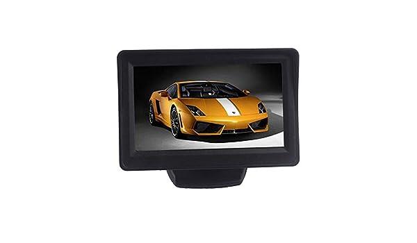 Cebbay 4.3 Pulgadas de Coche TFT LCD Monitor Espejo + cámara de Copia de Seguridad de Vista Trasera inversa CMOS Mini Monitor de Coche de LCD para Coche: ...