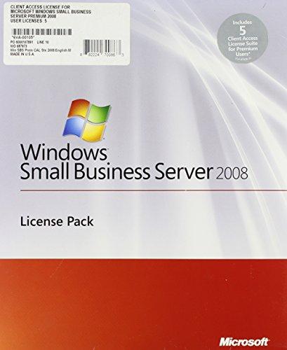 Windows Small Business Server Premium User CAL Suite 2008 English 5 Client AddPak