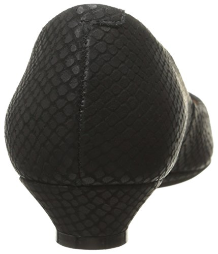 Corso Como Womens Kellie Flat Black Solid Snake