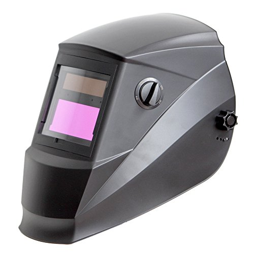 Antra AH6-260-0000 Solar Power Auto Darkening Welding Helmet with Wide Shade Range 4/5-9/9-13 with Grinding Feature Extra lens covers Good for TIG MIG MMA Plasma by Antra