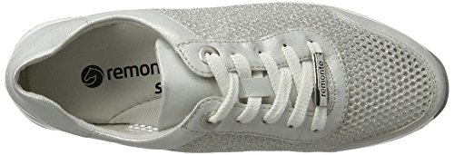 Remonte R7006, Zapatillas para Mujer Blanco (Ice/weiss-silber/90)