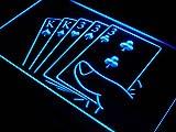Full House Poker Gamble Game Room LED Sign Night Light j348-b(c)