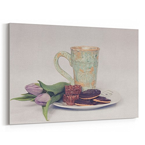Westlake Art - Plate Flower - 24x36 Canvas Print Wall Art - Canvas Stretched Gallery Wrap Modern Picture Photography Artwork - Ready to Hang 24x36 Inch ()