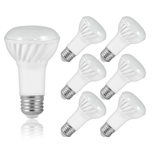 JandCase BR20 Flood Light Bulbs, 75W Incandescent Equivalent, 1000 Lumens, 10W, Natural Daylight White 4000K, Ceramic LED Light Bulbs, Medium Base E26, Not Dimmable, 6 Pack
