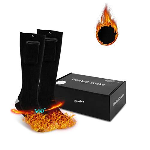 Verwarmde sokken voor mannen/vrouwen, elektrische verwarmingssok met 2 x powerbank, oplaadbare winterwarme skisokken…