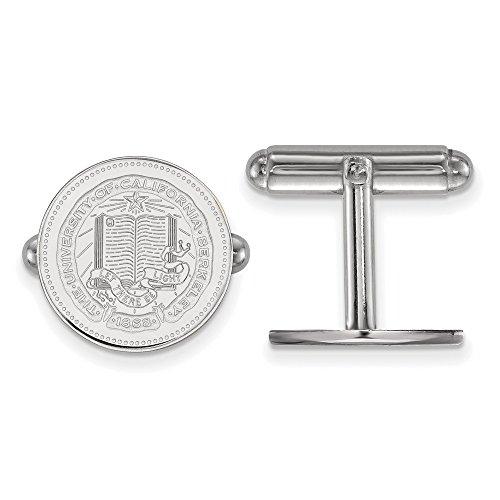 UC Berkeley California Golden Bears Crest Cuff Link in Sterling Silver 7.04 (California Golden Bears Cufflinks)