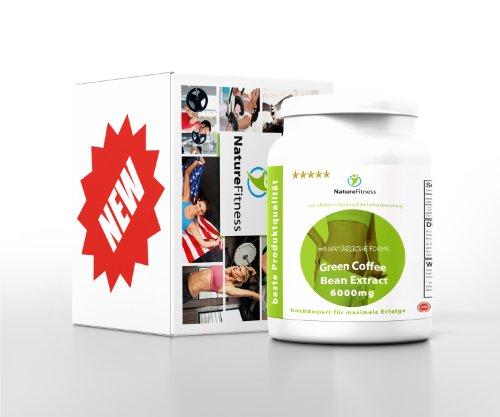 Green Coffee Bean HOCHDOSIERT 6000mg 90 Kapseln NEU!