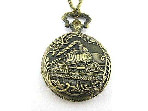 Magic Train Locket Watch Necklace Legendary Inspired Vintage Necklace (Vintage Inspired Necklace Locket)
