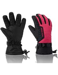 Ski Gloves, RunRRIn 100% Waterproof Warm Snow Gloves for...