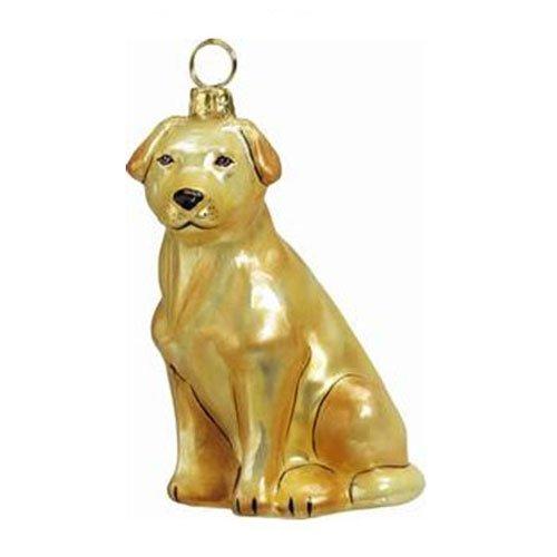 (Joy to the World Collectibles European Blown Glass Pet Ornament, Labrador Retriever, Yellow)