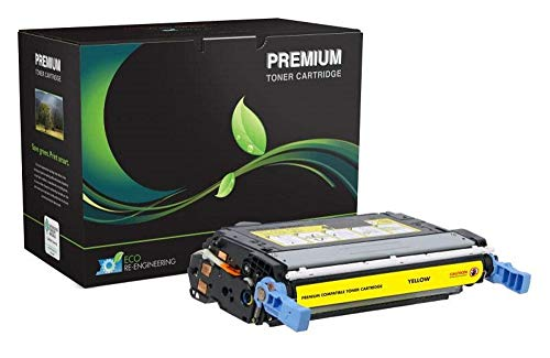 MSE Model MSE022140214 Remanufactured Toner Cartridge; Replacement for HP CB401A (HP 642A) OEM Cartridges; 7500 Pages Lifespan; Yellow (4.5 Lb Cartridge Refill)