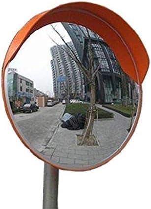 Geng カーブミラー 道路は、広角レンズ、防止交通事故凸面鏡は、交通安全のために耐久性のあるプラスチック製ブラインドスポットミラーを通知します