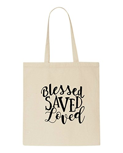 Tote Loved Bag Beige Shopper Saved Statement Blessed tZRaAqx