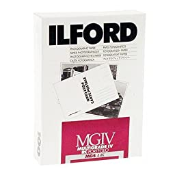 Ilford Multigrade IV RC Portfolio Resin Coated VC Variable Contrast Black & White Enlarging Paper - 5x7\