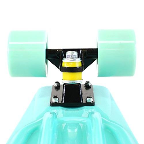 Scale Sports 22'' Skateboard Complete Pastel Street Retro Cruiser Classic Plastic Deck Mint by Scale Sports (Image #6)