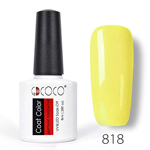 #70312 Fluorescence Color Series Nail Art Manicure 8Ml Soak Off LED UV Gel Lacquer Black Nail Gel Polish 818 ()