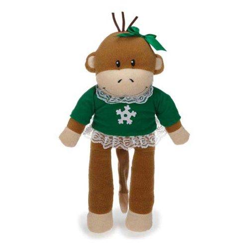 Zanies Holiday Monkey Dog Toy, Business Friend Tiff