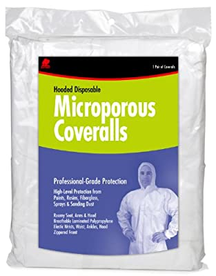 Buffalo Industries (68255) Hooded Microporous Disposable Coverall - Size X-Large