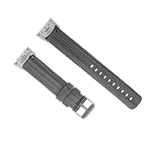 (Gonxifacai Nylon Woven Watch Band For Samsung Gear fit2 / fit2 pro Watch Replacement Watch Bands(Black))
