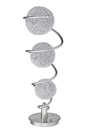 Homelegance Saturn Three Sparkling Orbs Metal Satin Nickel Finish Decorative Accent Lighting, Table lamp