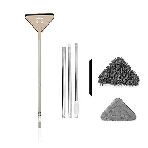 IrahdBowen Multifunctionele driehoekige mop, flexibele Lazy Dust Mop met 360 draaiende lagers, reinigingsset voor…