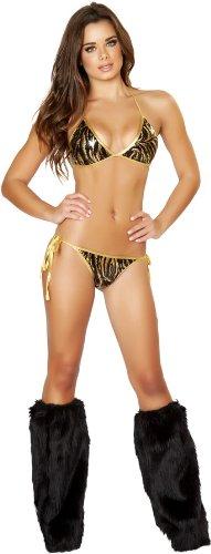 2pc Full Back Tie Pucker Sequin Bikini Set - (Full Back Pucker Tie)