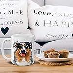 MUGBREW Cute Merle Aussie Australian Shepherd Dog Full Portrait Ceramic Coffee Gift Mug Tea Cup, 11 OZ 12