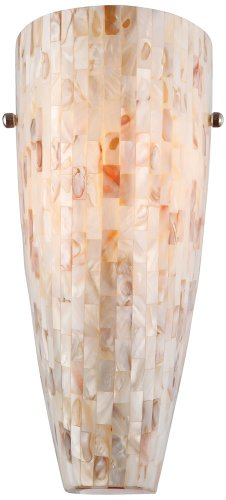 Possini Euro Design Mother Of Pearl Mosaic Wall Sconce Beachfront