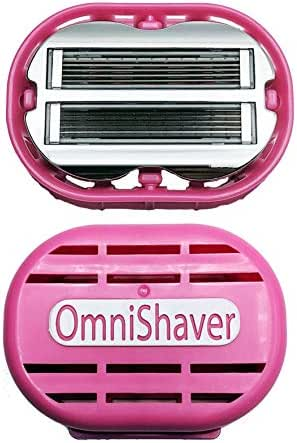 Premium OmniShaver with Travel Case, Leg and Arm Shaver Razor for Women | The Fastest Way to Shave your Head, Legs, Arms, Body | Shaving Razor Self Cleans and Strops During Use, Durable Blades …