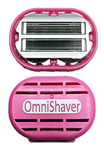 Premium OmniShaver with Travel Case, Leg and Arm Shaver Razor for Women | The Fastest Way to Shave your Head, Legs, Arms, Body | Shaving Razor Self Cleans and Strops During Use, Durable Blades ... (Best Razor For Shaving Your Head Bald)