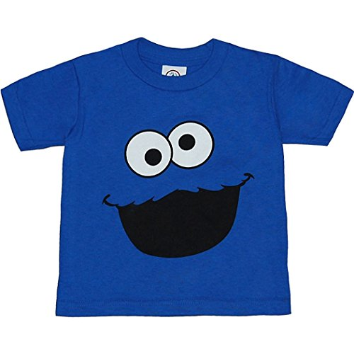 Cookie Monster Face Toddler T-Shirt-4T (Cookie Monster Tee Shirts)