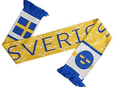 Sweden Sverige Soccer Knit Scarf