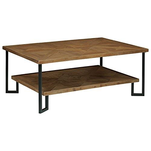 Stone & Beam Bernice Industrial Reclaimed Parquet Wood Coffee Table, 42
