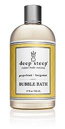 Deep Steep Bubble Bath - Grapefruit Bergamot - 17 Ounce