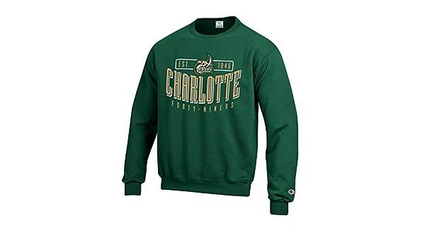 435d3a6f Amazon.com : Champion UNC-Charlotte 49ers Men's Green Crew Fleece  Sweatshirt : Sports & Outdoors