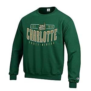 9d1dabf4 Amazon.com : Champion UNC-Charlotte 49ers Men's Green Crew Fleece ...
