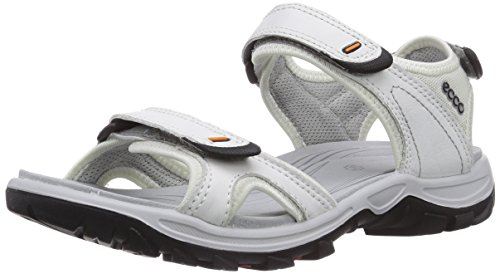 ECCO Women's Offroad Lite Rainer Sandal Outdoor Sandal, White/Shadow White, 39 EU/8-8.5 M US by ECCO