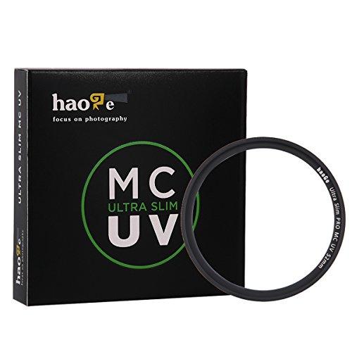 Haoge 52mm Ultra Slim MC UV Protection Multicoated Ultraviolet Lens Filter for Nikon Nikkor AF 50mm F1.4D, 50MM F1.8D, 35mm F2D, 28mm f2.8D, 35mm F1.8G, 40mm F2.8G