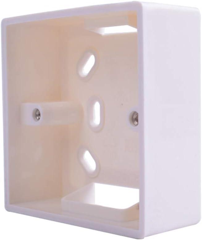 PRENKIN Montaje Externo reemplazo Caja para 86mmx86mm estándar Interruptores y Caja de Superficie de la Pared Enchufes de Socket aplicar Cualquier posición de Superficie de la Pared: Amazon.es: Hogar