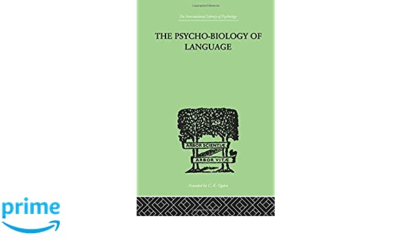 the psycho biology of language zipf george kingsley