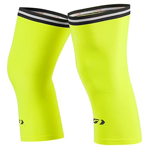 Louis Garneau Cycling Knee Warmers 2, Bright Yellow, Large