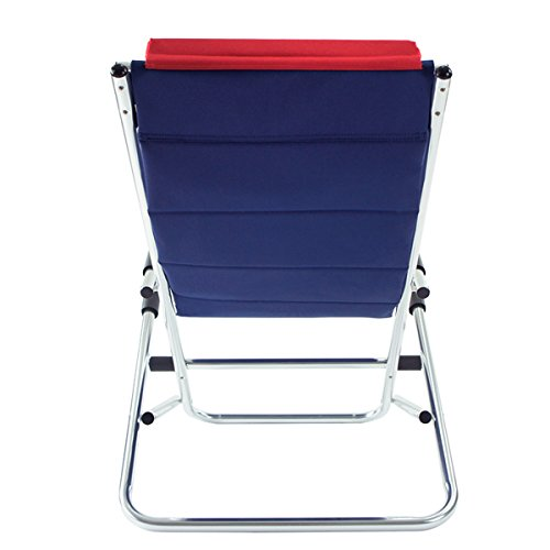 OnwaySports Zero Gravity Aluminum Frame Rocking Chair with Pillow Foldable Portable Lightweight for Camping