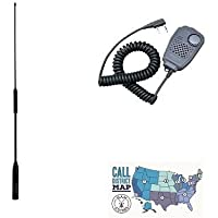 Kenwood TH-D74A Digital Tri-Band HT Accessory Bundle - Includes Kenwood Handheld Speaker Mic, Diamond Tri-Band Antenna and Ham Guides TM Quick Reference Card