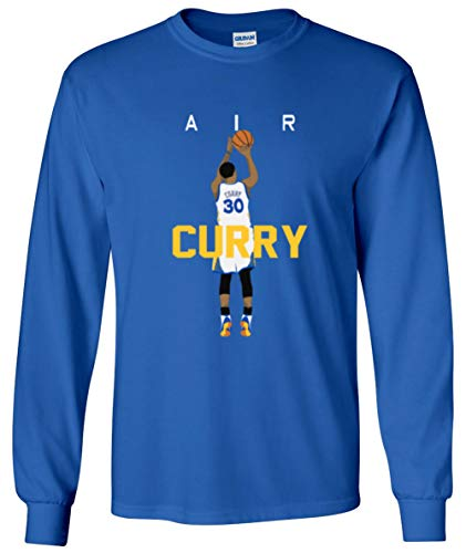 - The Tune Guys Long Sleeve Blue Golden State Curry Air Pic T-Shirt Youth